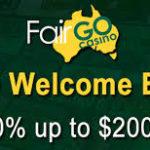 Fair Go Casino Special Bonus
