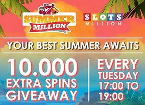 Slotsmillion 10000 extra spins Tuesday