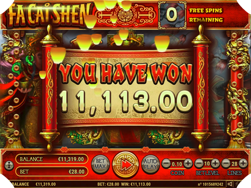 This Big Pokie Winner played the Fa Cai Shen pokie from Emu Casino!