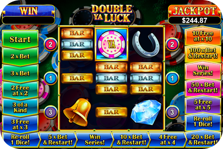 Double Ya' Luck is an extreme 3 payline pokie that comes with super special Lucky September features!