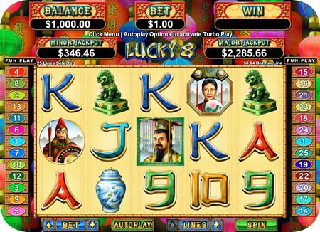 Lucky 8 is another of the Real Series pokies that offers oodles of luck during this September offer.