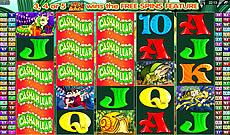 cashapillar microgaming 100 pay-line aussie pokie machine